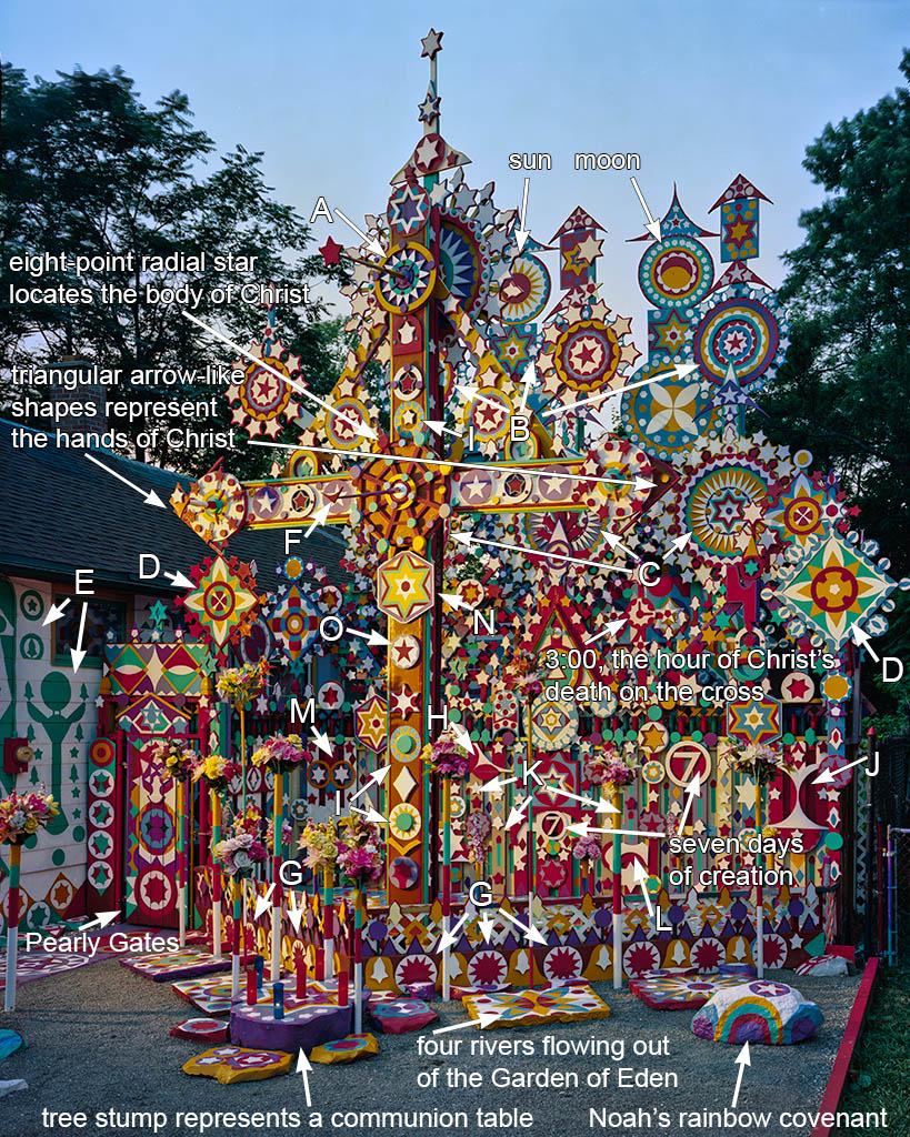 Prophet Isaiah Robertson's cross; Niagara Falls, NY 2012