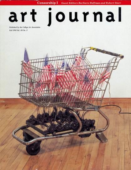 Hans Haacke cover, art journal; 1991