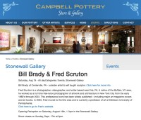 Bill Brady and Fred Scruton Exhibition, Stonewall Gallery 2017