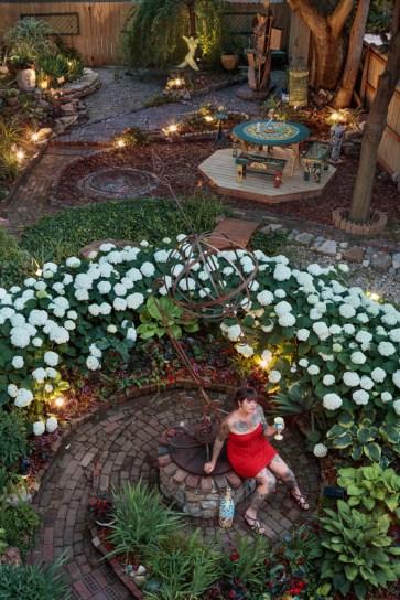 AJ Vanderelli in Charles Wince's WinceWorld garden; Columbus, OH 2020