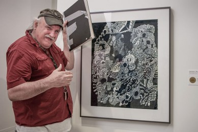 Frank Novel at the Erie Art Museum's Spring Show opening 2014
