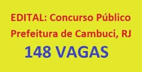 Concurso público da prefeitura de Cambuci RJ