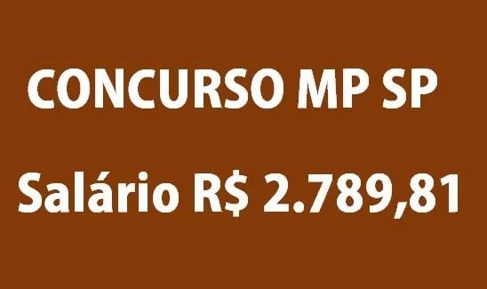 Concurso MP SP 2019