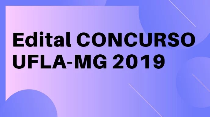 Concurso-UFLA-MG-2019-edital