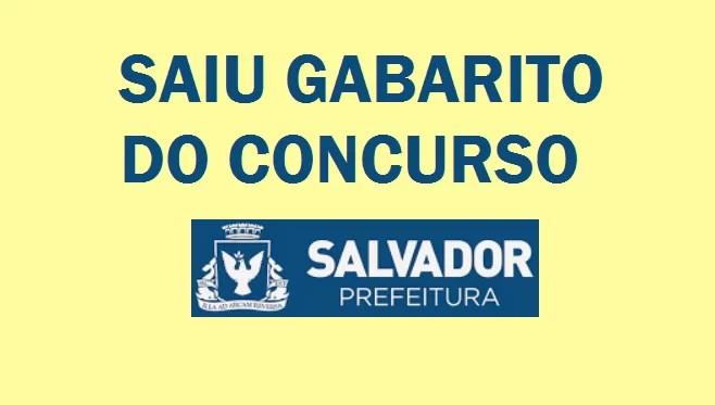Gabaritos do Concurso da Prefeitura de Salvador