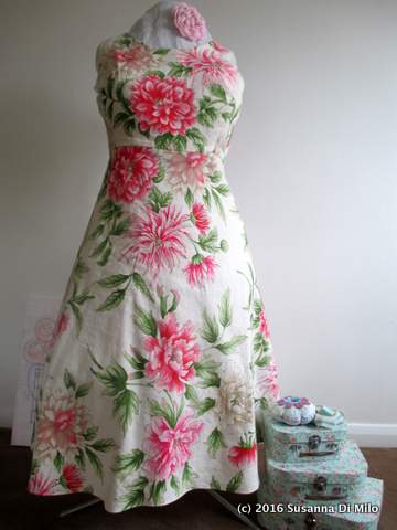 flowery fifties dress