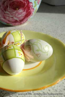 Easter Eggs and rose bowl
