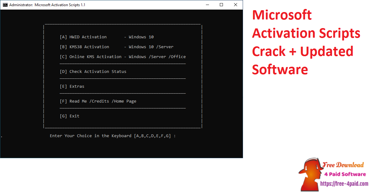 Microsoft Activation Scripts Crack + Updated Software