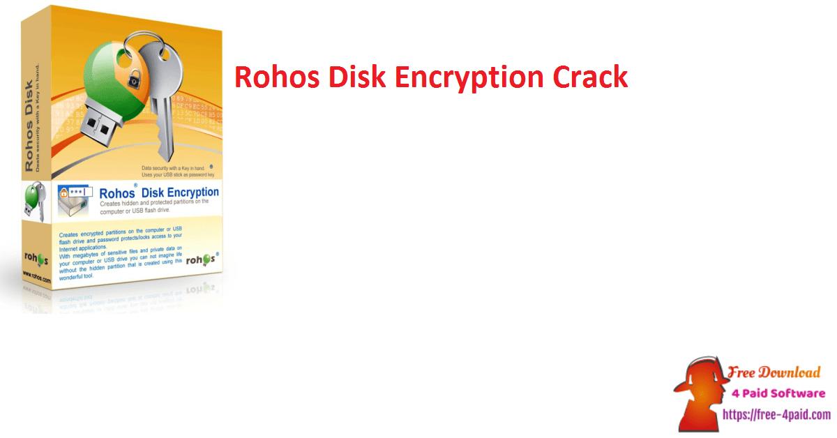 Rohos Disk Encryption Crack