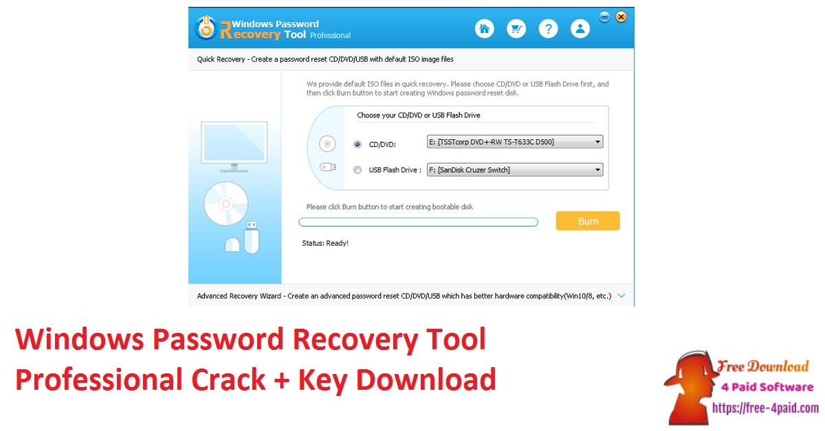 Windows Password Recovery Tool Professional Crack + Key Download