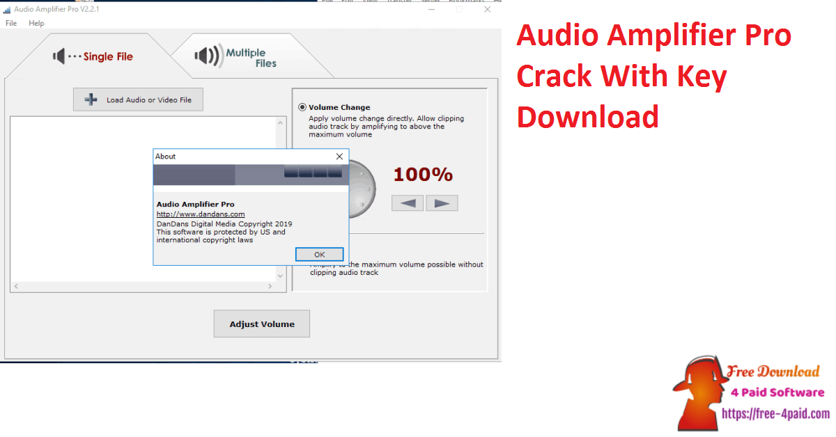 Audio Amplifier Pro Crack With Key Download