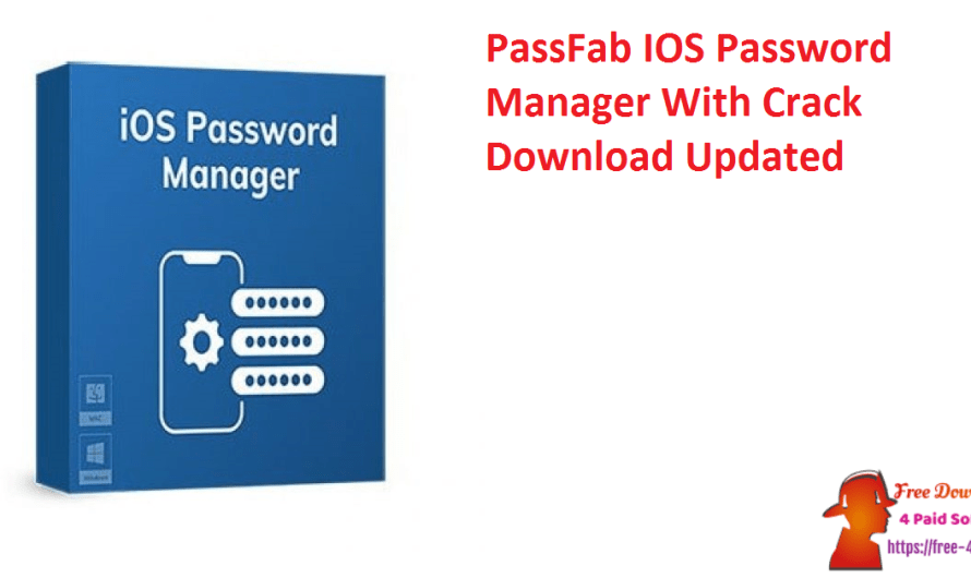 PassFab IOS Password Manager 2.2.8.12 With Crack Download [Updated]