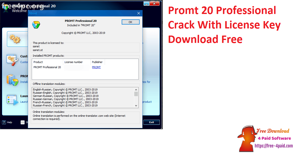 Promt 20 Professional Crack With License Key Download Free