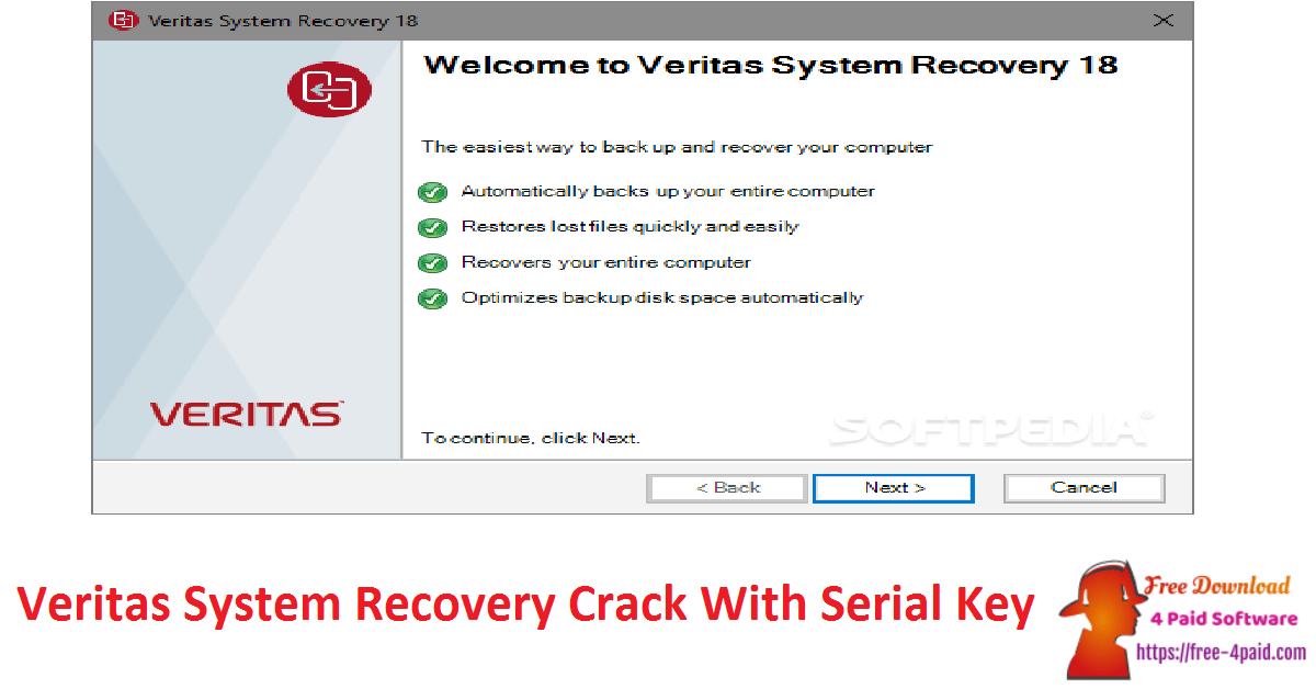 Veritas System Recovery Crack With Serial Key