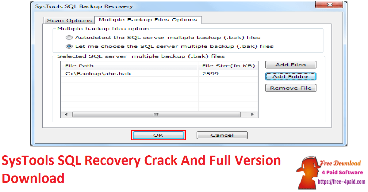 SysTools SQL Recovery Crack And Full Version Download