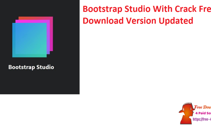 Bootstrap Studio 5.8.3 With Crack Free Download Version [Updated]
