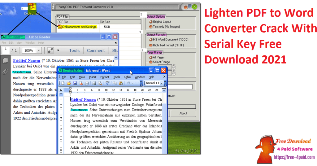 Lighten PDF to Word Converter Crack With Serial Key Free Download 2021