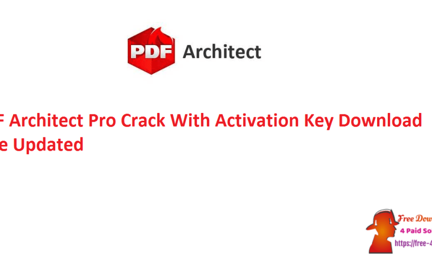 PDF Architect Pro 8.0.56 Crack  With Activation Key Download Free [Updated]