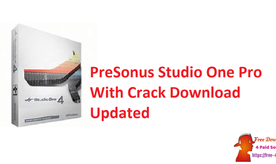 PreSonus Studio One Pro 4.6.1.55987 With Crack Download [Updated]