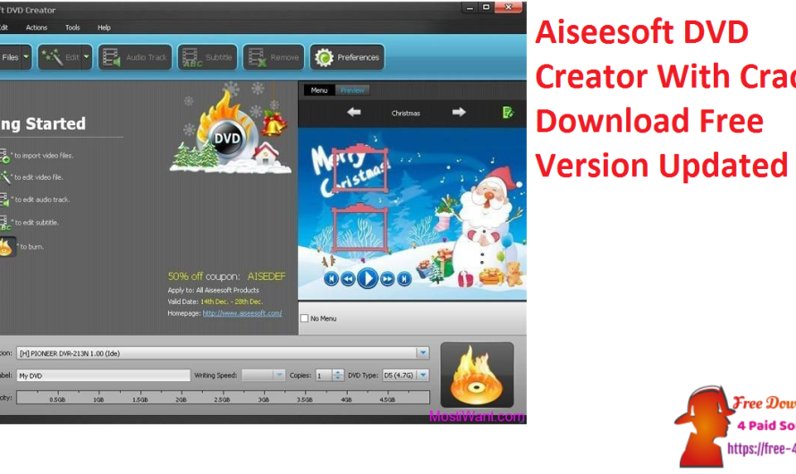 Aiseesoft DVD Creator 5.2.50 With Crack Download Free Version Updated