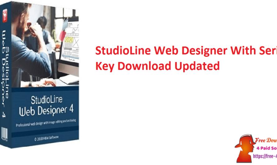 StudioLine Web Designer 4.2.60 With Serial Key Download [Updated]