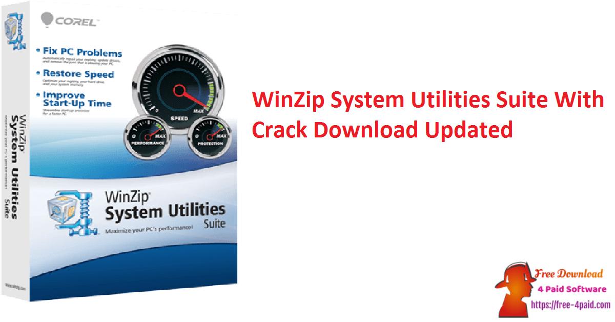 WinZip System Utilities Suite With Crack Download Updated