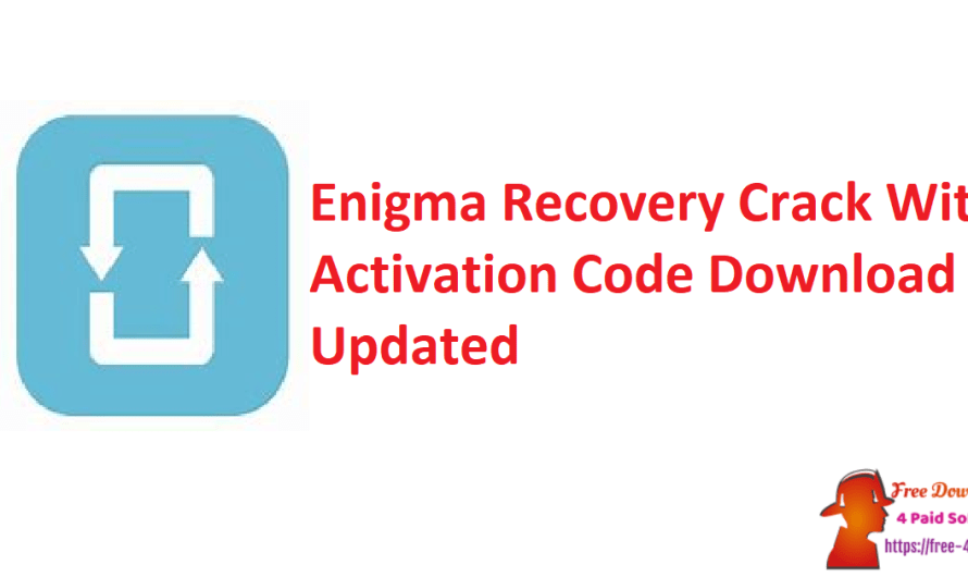 Enigma Recovery 4.1.0 Crack With Activation Code Download [Updated]