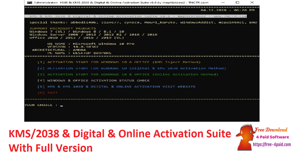 KMS/2038 & Digital & Online Activation Suite With Full Version