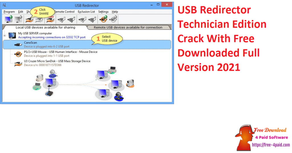 USB Redirector Technician Edition Crack With Free Downloaded Full Version 2021