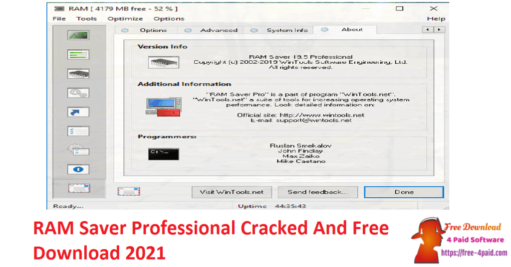 RAM Saver Professional Cracked And Free Download 2021