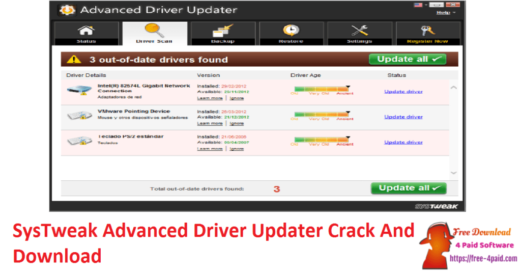 SysTweak Advanced Driver Updater Crack And Download