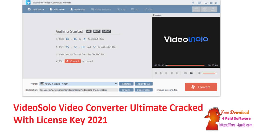 VideoSolo Video Converter Ultimate Cracked With License Key 2021