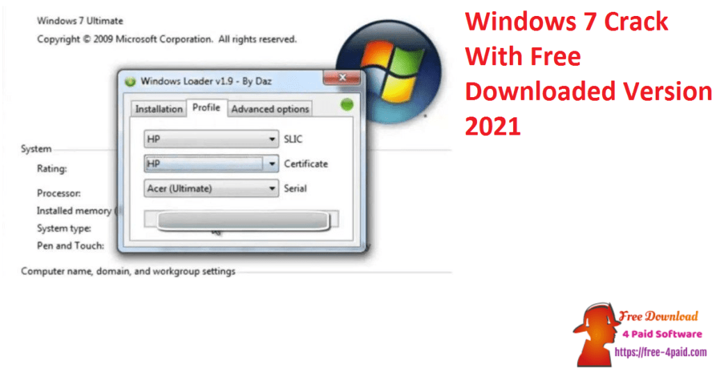 Windows 7 Crack With Free Downloaded Version 2021