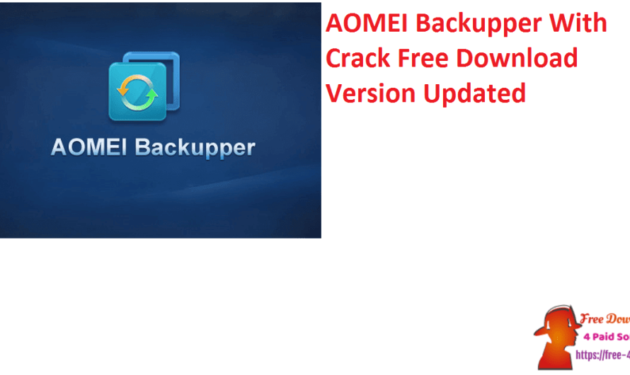 AOMEI Backupper 6.5.1 With Crack Free Download Version [Updated]