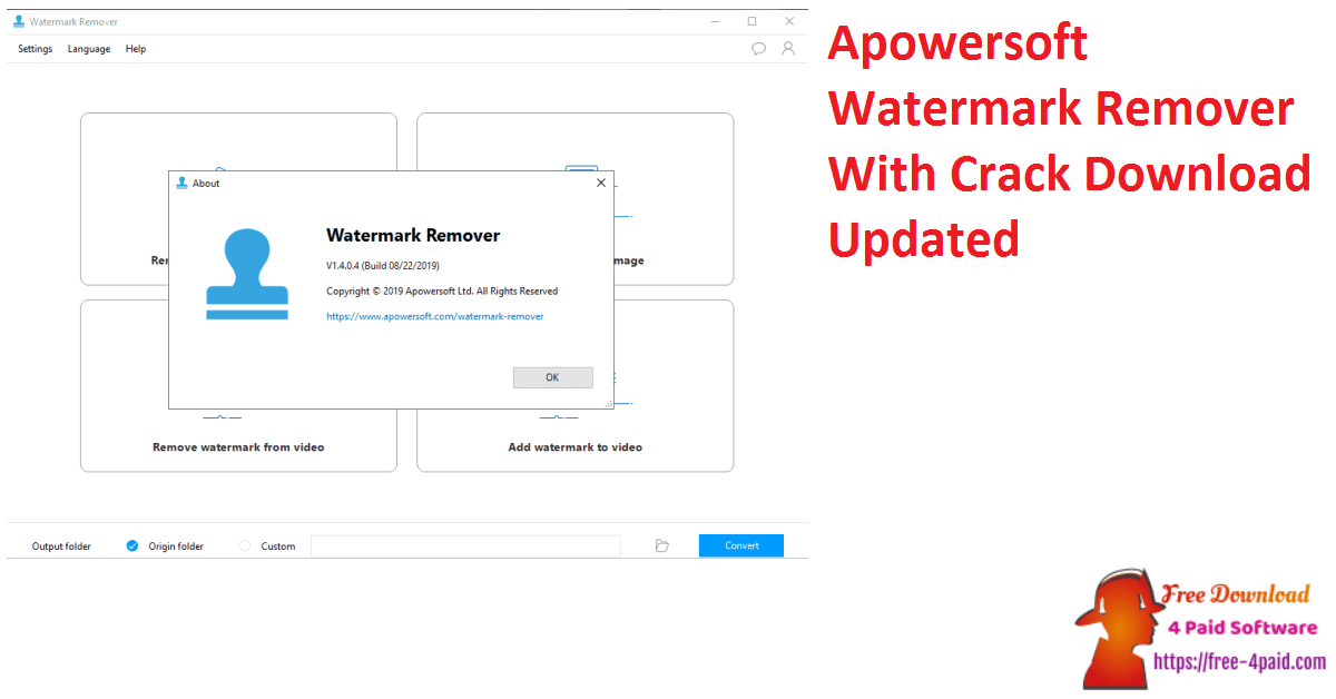 Apowersoft Watermark Remover With Crack Download Updated