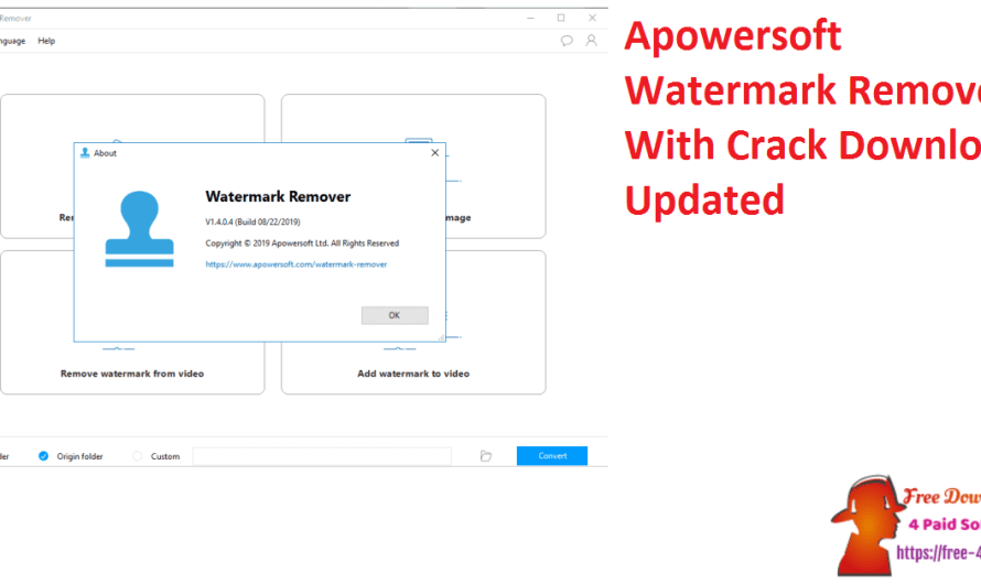 Apowersoft Watermark Remover 1.4.11.4 With Crack Download [Updated]