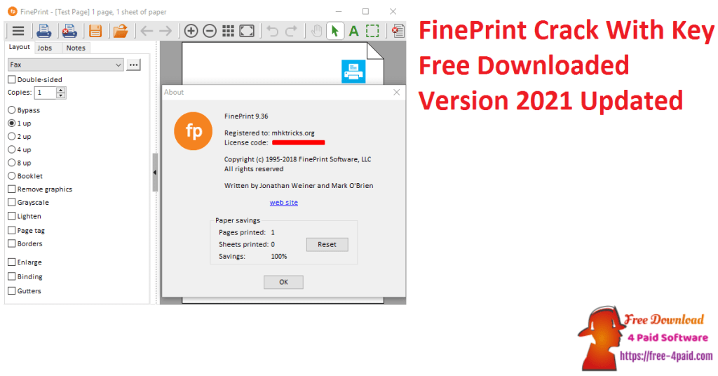 FinePrint Crack With Key Free Downloaded Version 2021 Updated