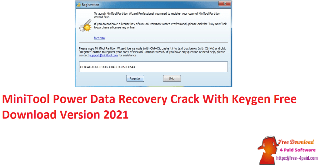 MiniTool Power Data Recovery Crack With Keygen Free Download Version 2021