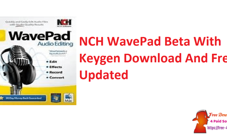 NCH WavePad 12.96 Crack + Keygen Download And Free [Updated]