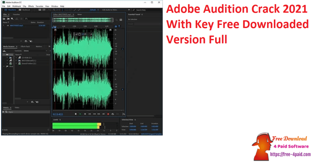 Adobe Audition Crack 2021 With Key Free Downloaded Version Full