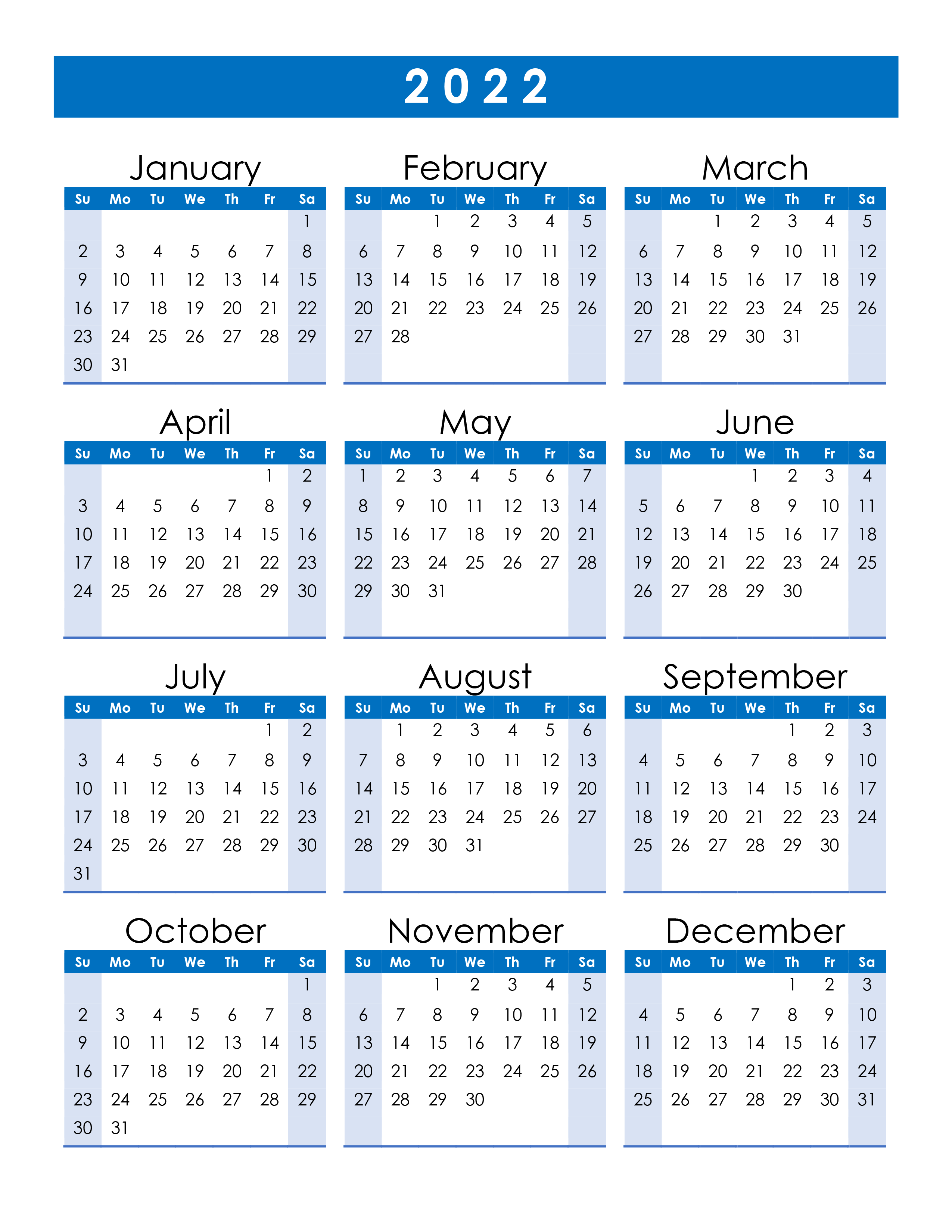 Remembering bill due dates is easy with a system for noting what needs to be paid and whether you've done with these free printable bill calendars. Yearly calendar 2022 - free-calendar.su