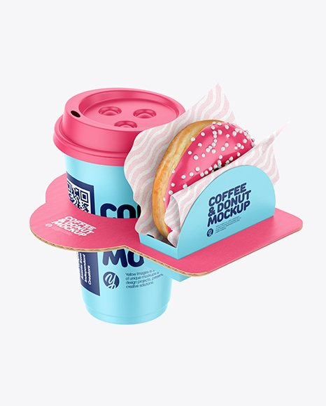 A list of free box mockups to. Coffee Cup With Donut In Holder Mockup Free And Premium Mockups For Branding And Packaging Design