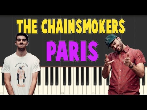 The Chainsmokers – Paris – Piano Tutorial (Slow)