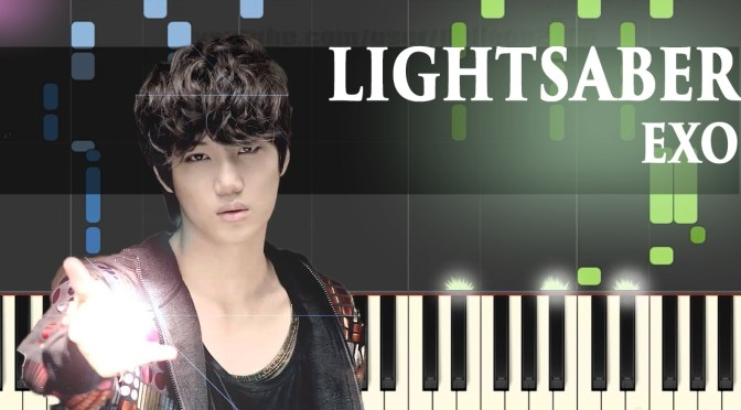 EXO – Lightsaber – Piano Tutorial