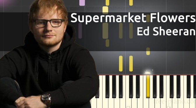 Ed Sheeran – Supermarket Flowers – Piano Tutorial