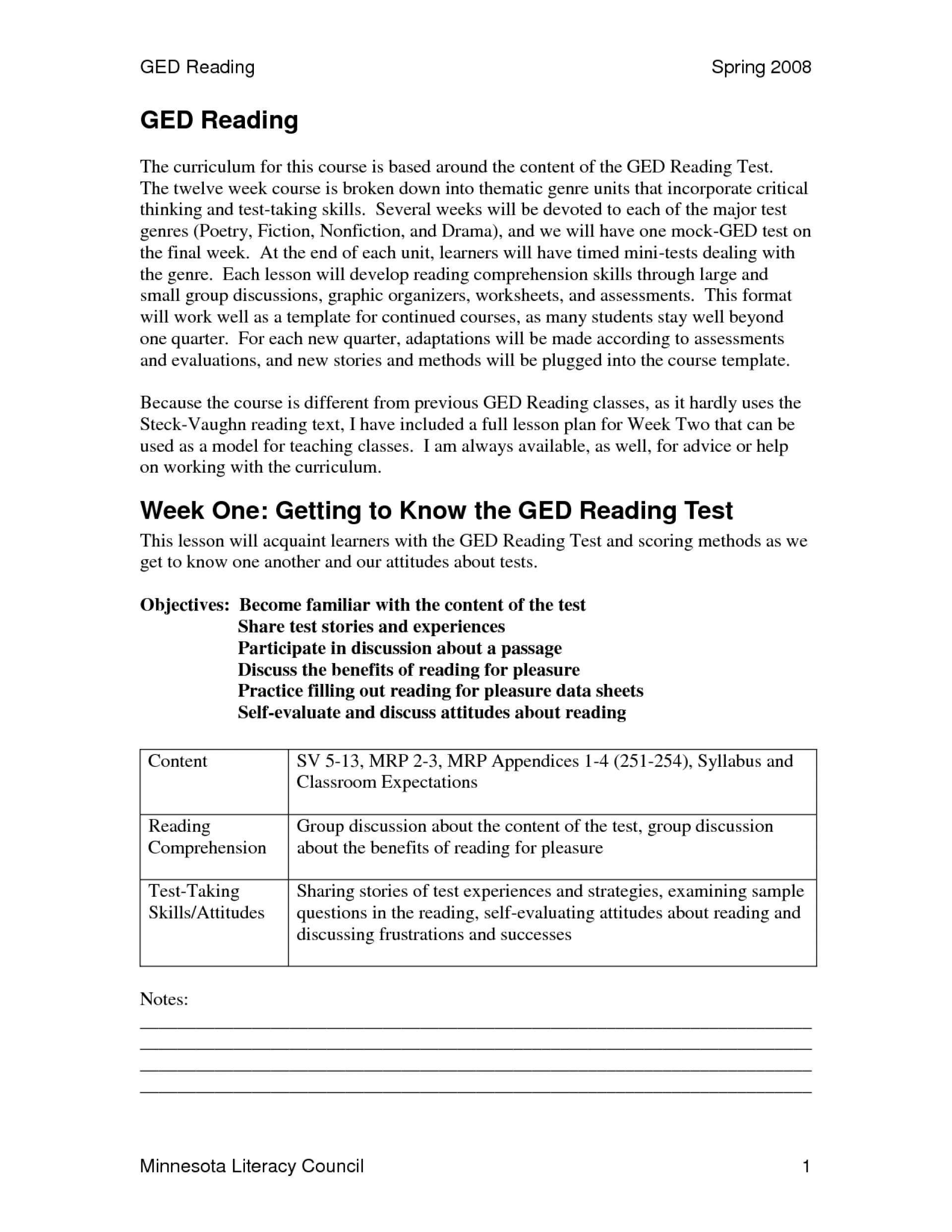 Free Printable Ged Practice Test With Answer Key