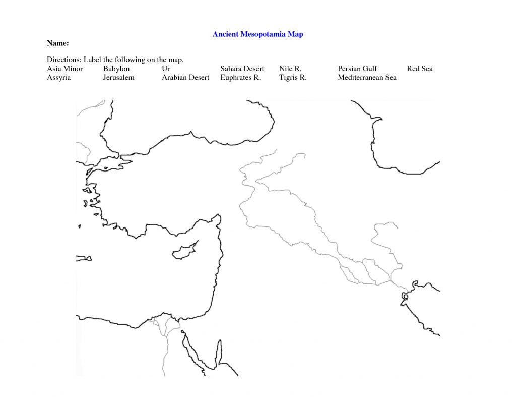 Fertile Crescent Map Worksheet