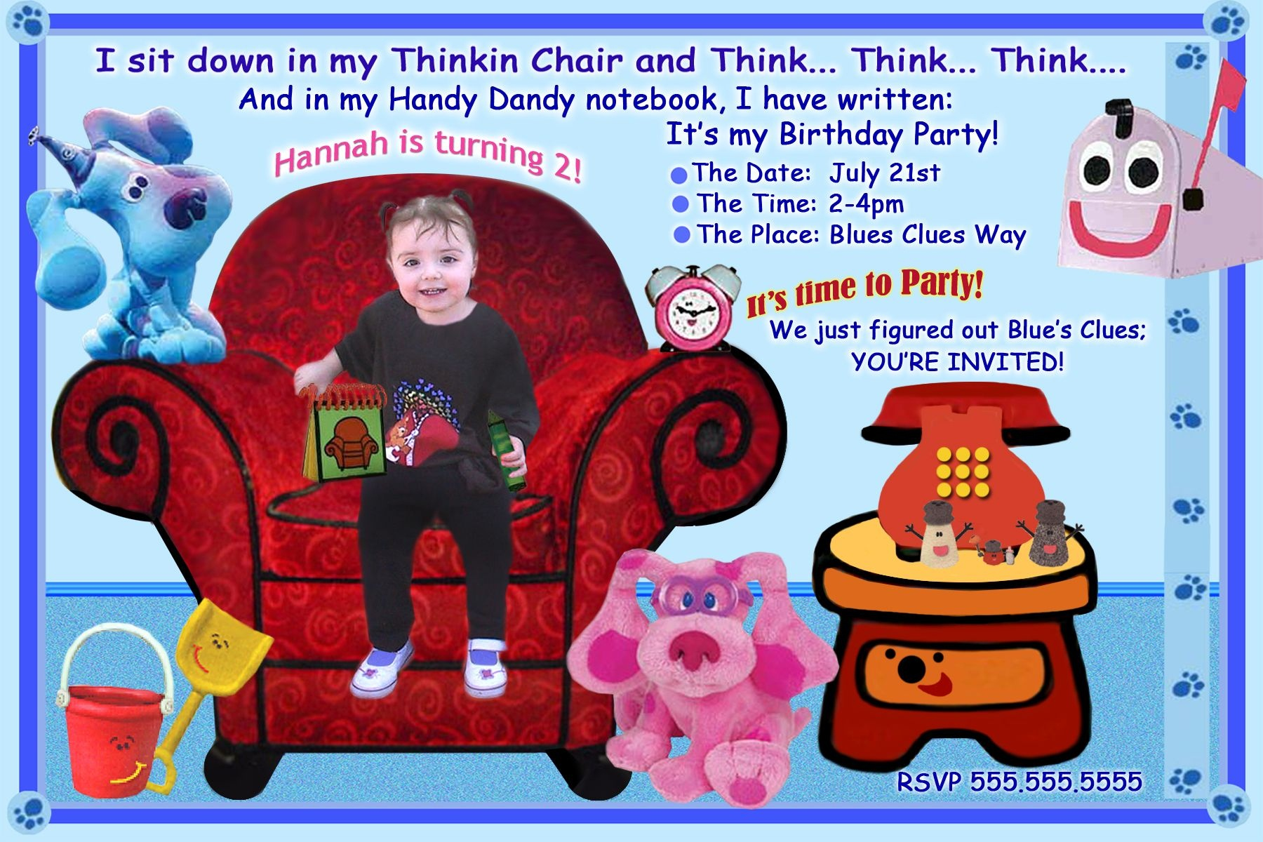 Blues Clues Birthday Party Personalized Printable
