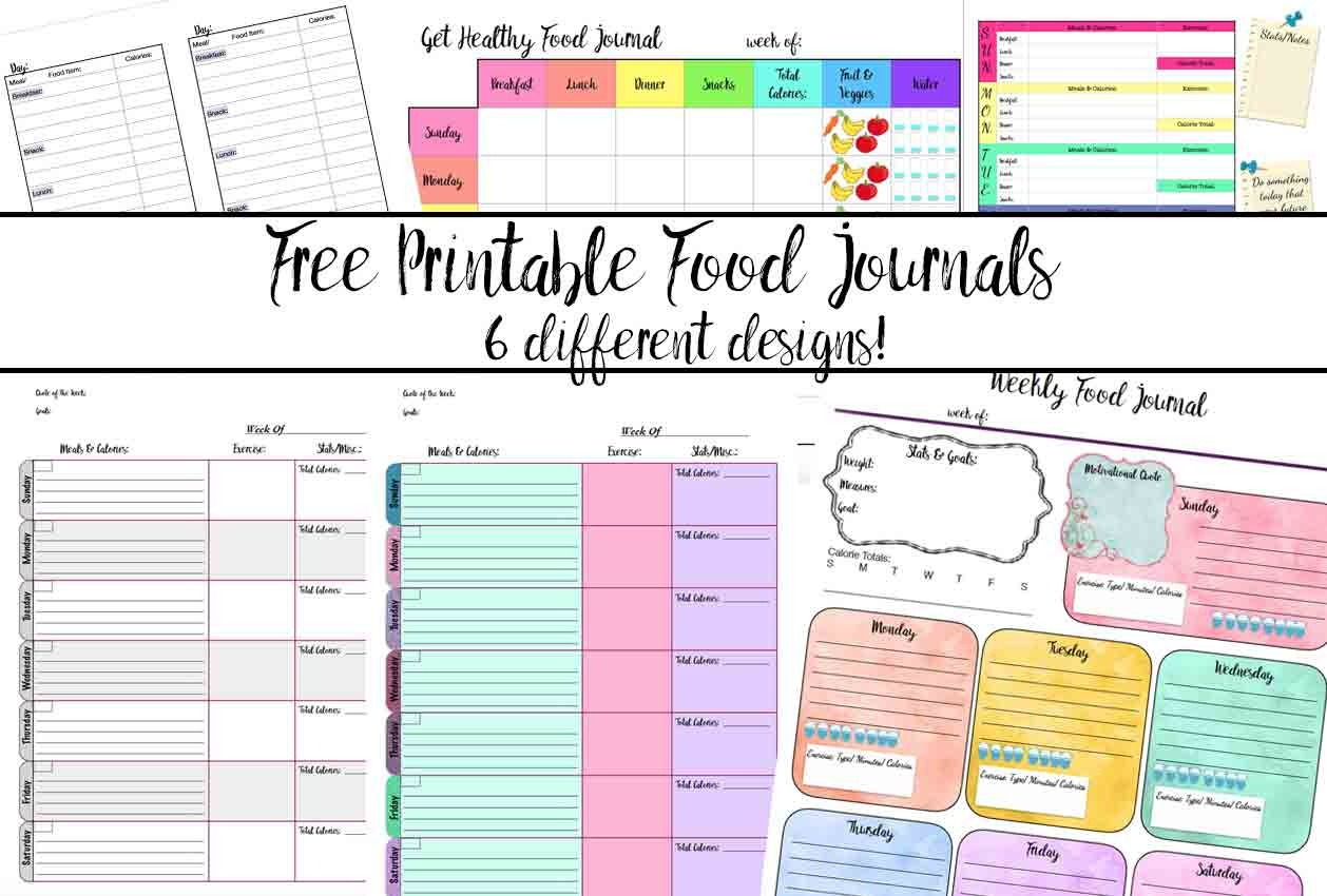 Free Printable Calorie Counter Journal