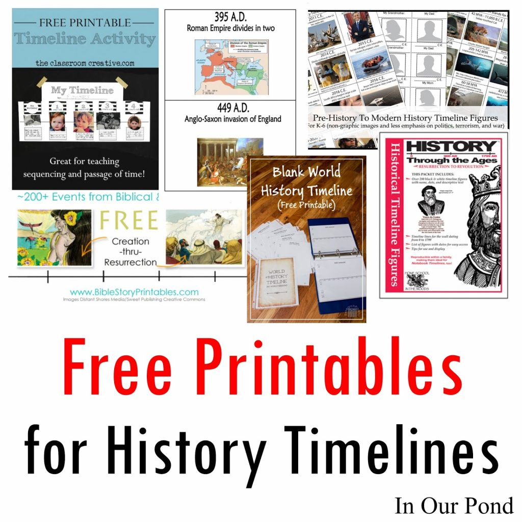 Free Printables For History Timelines